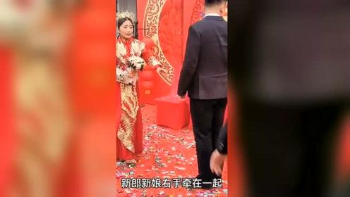 婚礼恶搞新郎!没想到新郎秒变大黑脸!