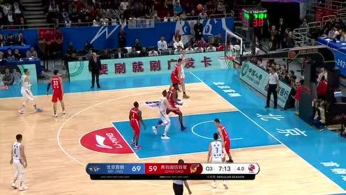 【回放】青岛vs北京第3节 节奏狂魔林书豪后仰投篮2+1