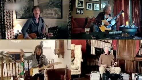 滾石樂隊雲表演 宅家獻唱《你不能總得到你想要的》