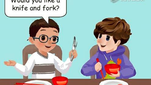 义务教科书PEP四年级英语上册Unit 5 Dinner's Ready_let's talk PartA 动画flash