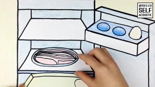 手绘定格动画:创意diy美味午餐,这样的迷你烹饪想尝尝吗