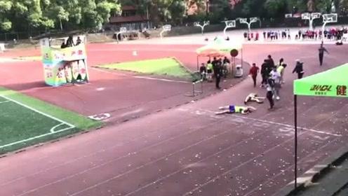 高考的学生参加考试,体育生为了将来拼尽全力,这一幕真是太震撼了!