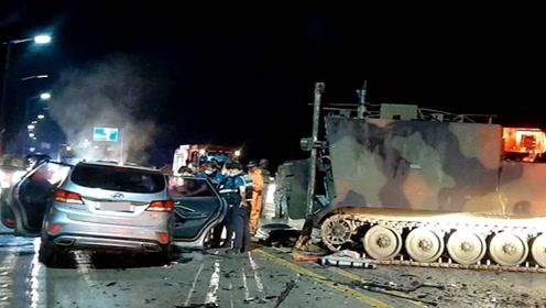美军装甲车与韩国私家车追尾 4名平民死亡1美军受伤