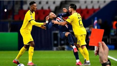 欧冠比赛中的愚蠢和愤怒红牌时刻,让人好气又好笑的尴尬瞬间