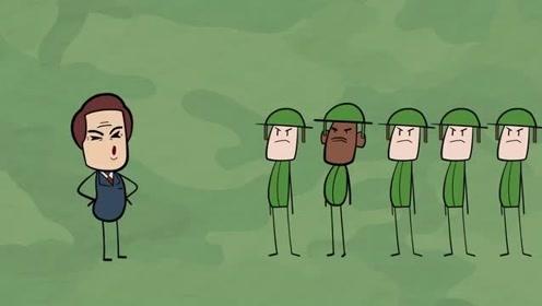 铅笔人搞笑动画花絮:一拳KO