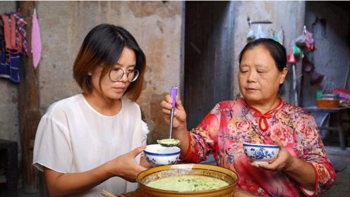 农村婆媳同住,儿媳没啥胃口,婆婆拿石磨做传统美食,看看吃的啥