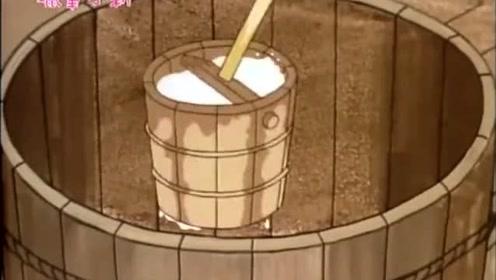 蜡笔小新:江户时代的小新在打水的时候,把自