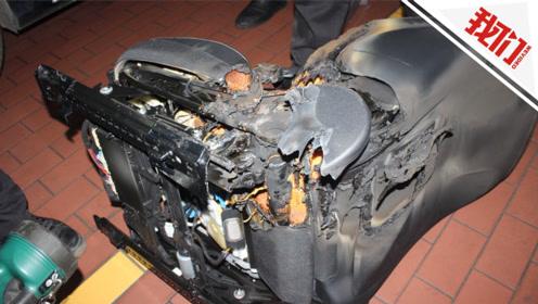"""奔驰车停在路边座椅无故起火 消防介入调查""""罪魁祸首""""令人意外"""