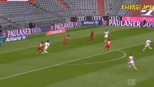 德甲豪门拜仁5:0横扫法兰克福,莱万上演帽子戏法