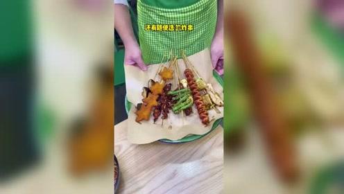 三好学生都爱吃的卤烤米线!