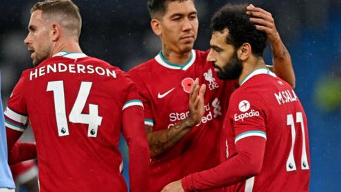 英超:曼城1-1利物浦 阿森纳0-3不敌阿斯顿维拉