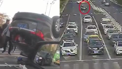 南通:女司机遇红灯不减速,致六车相撞当场翻车:我只是没注意