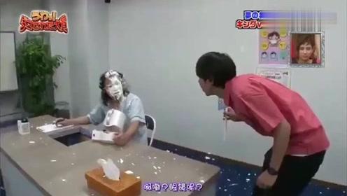 日本综艺节目:整人大赏,搞笑三人组被喷*油,