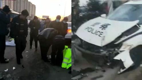 1死1伤!黑龙江一警车与无牌三轮车惨烈相撞,现场画面惨不忍睹