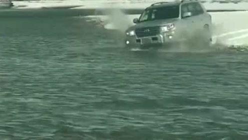 山是山河是河,越野还是酷路泽,看了视频才知道丰田车有多么牛!