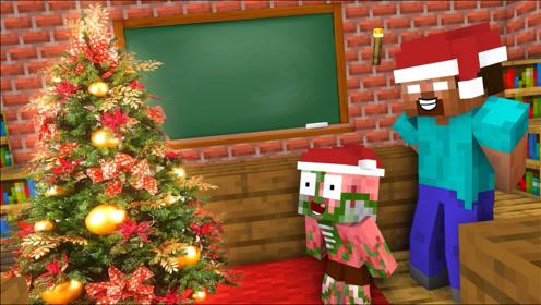 《我的世界怪物学院》搞笑动画:堆雪人挑战赛