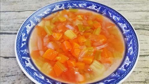 冬天多喝这道清油刮脂汤,降脂降压更健康,常喝肚子变小,皮肤好