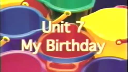 New starting point third grade English Vol. 1 Unit 7 My Birthday