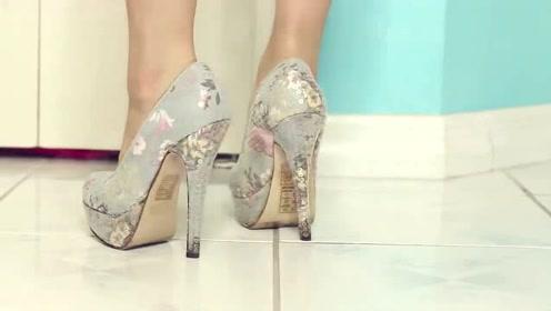 美女花朵高跟鞋,美而出新颜!