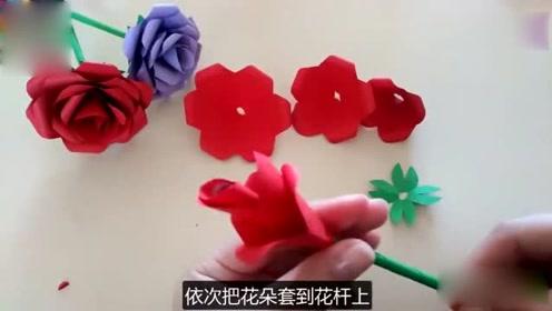 最简单的玫瑰花折法_最简单的玫瑰花折法