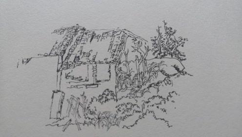 风景速写中的树木怎么画?老艺术家教给你,简单易学,快来临摹!