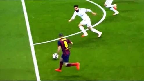 梅西对阵皇马助攻,在场的观众都为他鼓掌助威