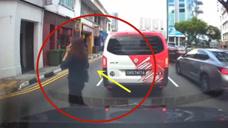 任性横穿马路这就是惩罚,要不是视频这一幕谁会相信!