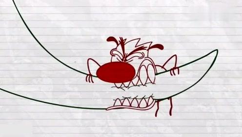 搞笑铅笔动画:面对哥斯拉的强势进攻,铅笔人