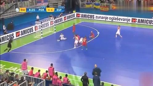 精彩室内足球欧洲杯决赛西班牙VS葡萄牙,葡萄牙夺冠精彩集锦