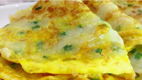 鸡蛋饼学会这做法,早餐不用买了,30秒烙一张,柔软筋道凉了不硬