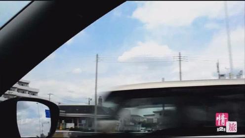 左舵车开了几天终于熟悉了,现在即将前往平冢综合体育馆,情旅
