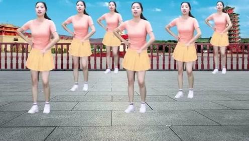 热门广场舞《最美的红颜》欢快舞步,简单易学
