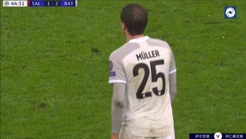 欧冠14连胜,莱万双响,穆勒造点+造乌龙拜仁6-2萨尔茨堡