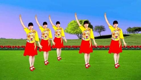 热门广场舞《又见山里红》祁隆的金曲,优美的舞蹈,送给你