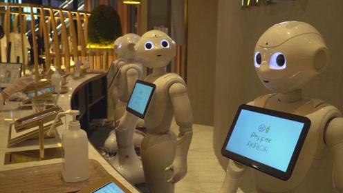 (电视通稿·海外·科技)探访日本另类咖啡店:几乎所有员工都是机器人