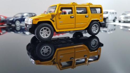 帅气的跑车皮卡车和越野车玩具
