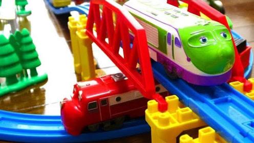拼搭恰恰特快车列车轨道玩具