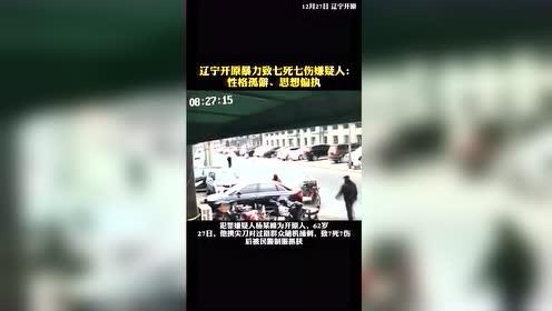 #热点速看#辽宁开原暴力致七死七伤嫌疑人:离异丧子,性格孤僻、思想偏执,对社会不满!