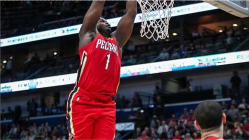 NBA20-21赛季至今精彩扣篮第4弹!锡安空中折叠拉杆暴力隔扣戴维斯