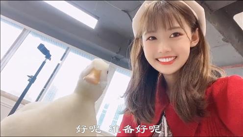 搞笑视频:美女和鸭子一起自拍,被鸭子无情嘲笑了