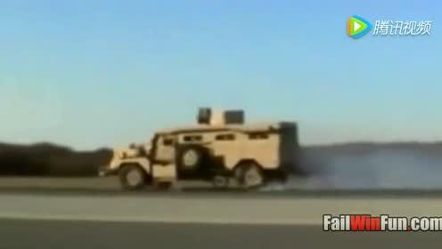 美军防地雷伏击车测试