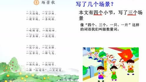 Second grade Chinese Vol.1 Literacy 1 Scene Song