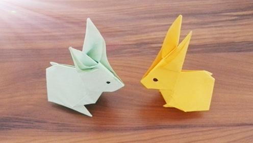 折纸兔子图片