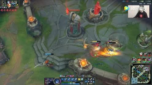 LOL:黑暗收割凯隐!伤害爆炸!小法师:这厮好