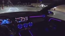 深夜试驾奔驰B200柴油版,坐进车内开启夜视系统,才知道有多霸气