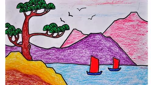 嶺南版四年級美術下冊2.高山、大海、江河