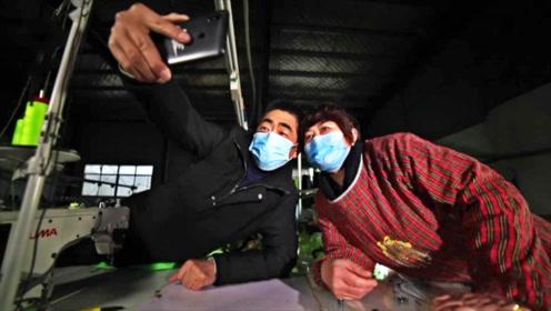 夫妻两人不眠不休做防护面罩 两个人撑起一座工厂