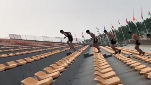 广州体育生的清晨,美好的一天从运动开始,为比赛做准备!