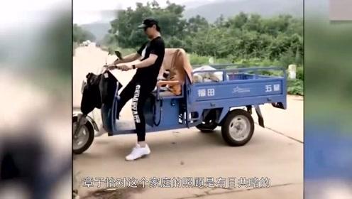 汪峰開三輪摩托直接撞樹,章子怡擔心到尖叫,網友:果然是真愛