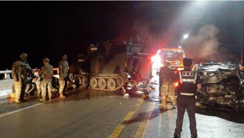 突发!韩国私家车追尾美军装甲车,4名平民受重伤不治身亡